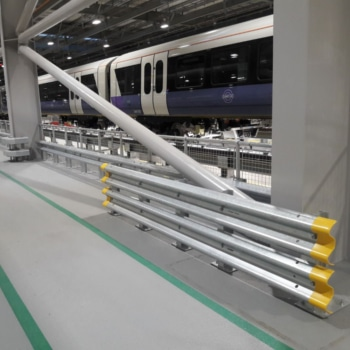 Barriers installed at the Crossrail Depot