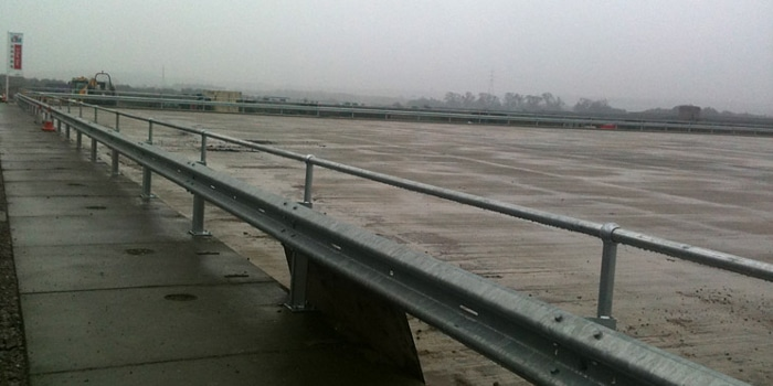 Armco Barriers with Handrail